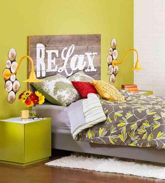 cabeceros de cama pintados bedroom