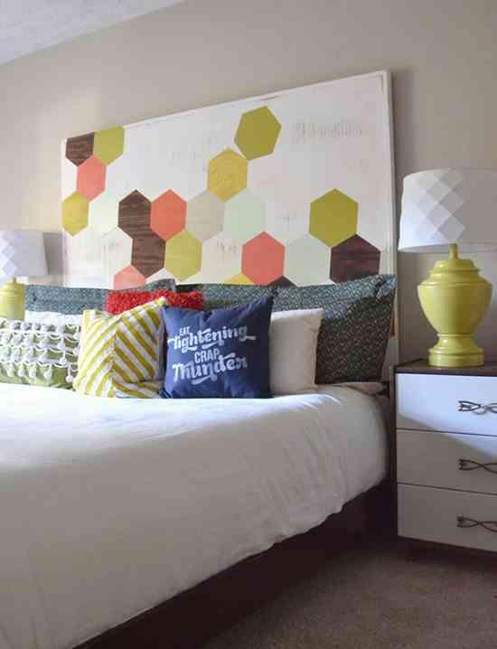 Ideas para cabeceros de cama pintados que puedes hacer t - Hacer cabeceros de cama ...