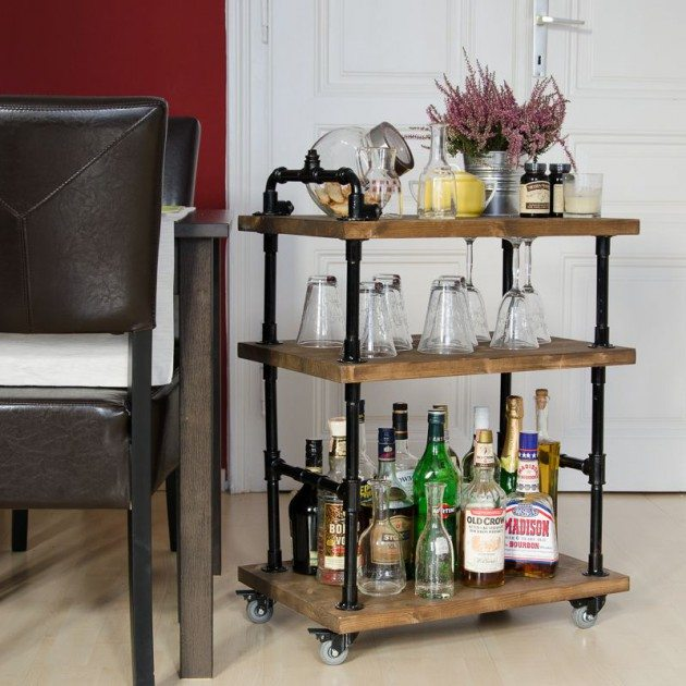 minibar para el salon homesthetics industrial