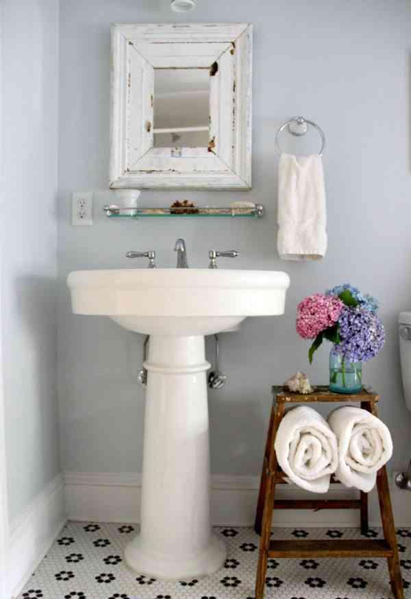 redecorar tu cuarto de bano eclectically vintage lavabo