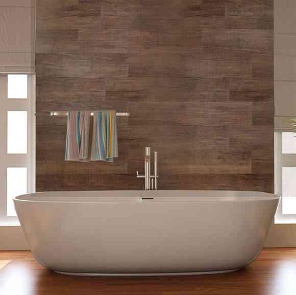 Ideas para revestir paredes de ba o con material vin lico - Como alicatar un cuarto de bano ...