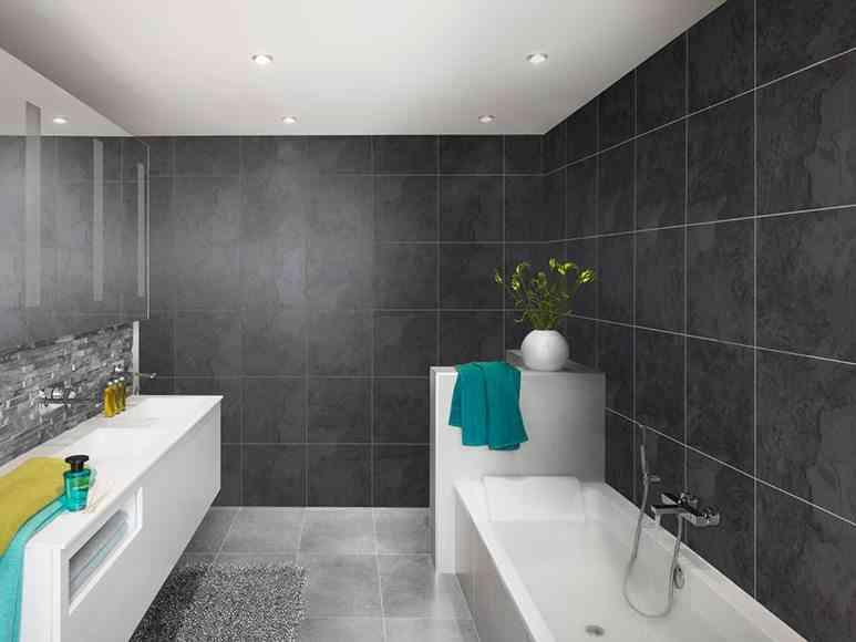 Ideas para revestir paredes de ba o con material vin lico - Revestimiento de paredes leroy merlin ...
