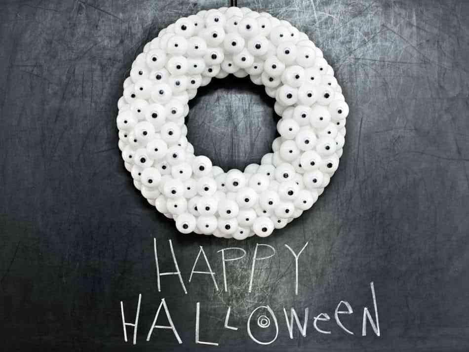 coronas de halloween ojos