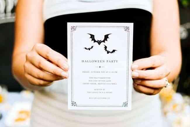 invitaciones para la fiesta de halloween tiny