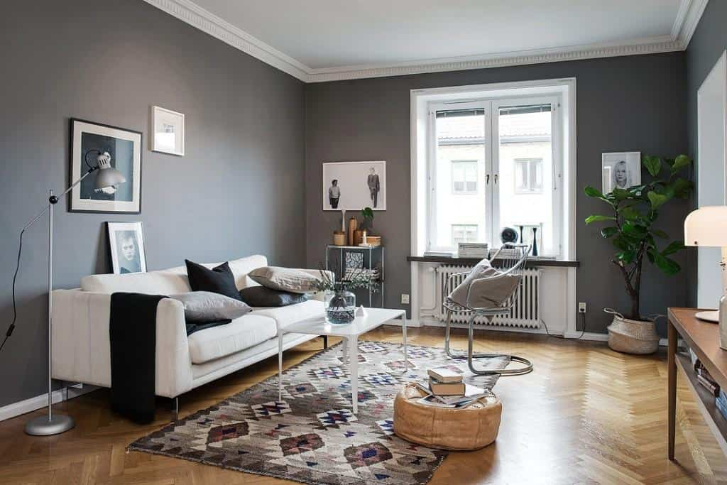 10 claves para combinar el gris marengo en decoraci n for Decoracion de salones en gris
