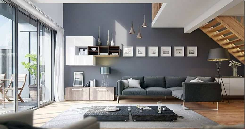10 claves para combinar el gris marengo en decoraci n for Pintura pared gris azulado