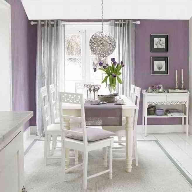 10 habitaciones pintadas en color malva que te encantar n - Combinar colores para pintar paredes ...