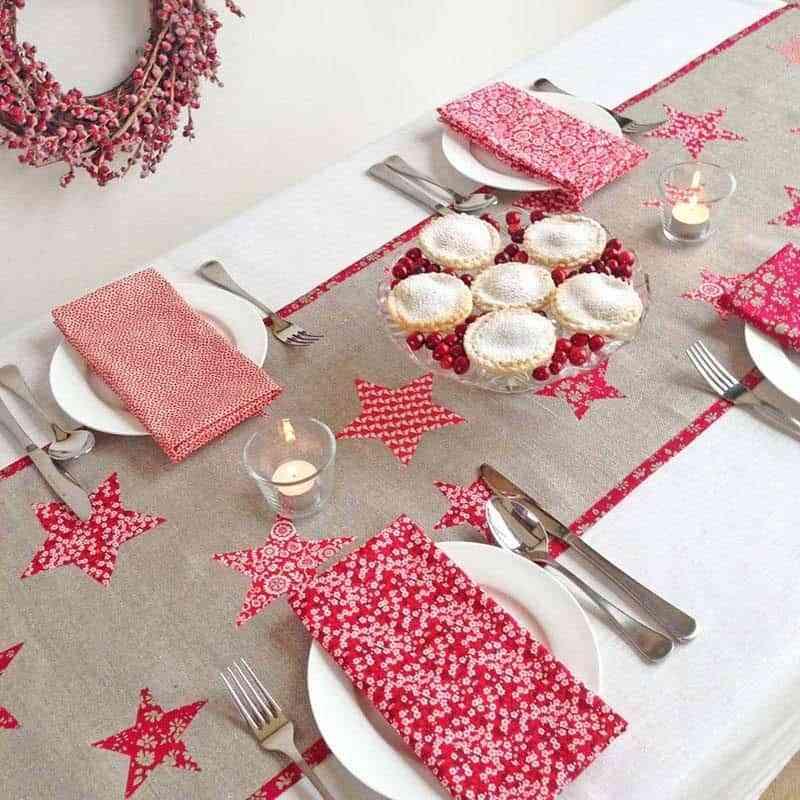 5 caminos de mesa navide os que puedes hacer t mismo - Manteles navidenos ...