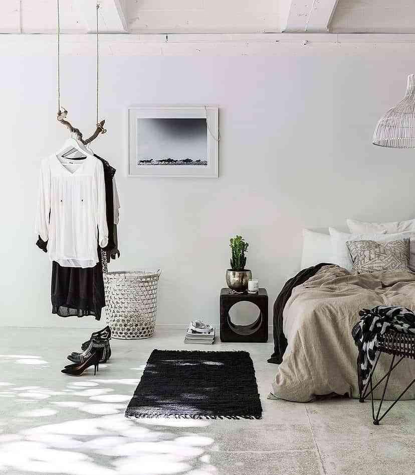 vestidor barato en el dormitorio