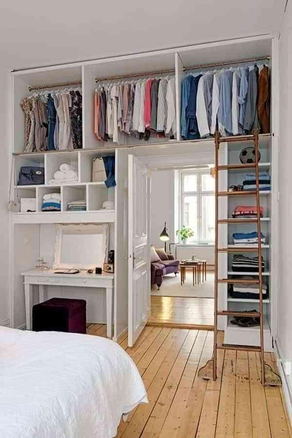 vestidor pequeño aprovechando la altura