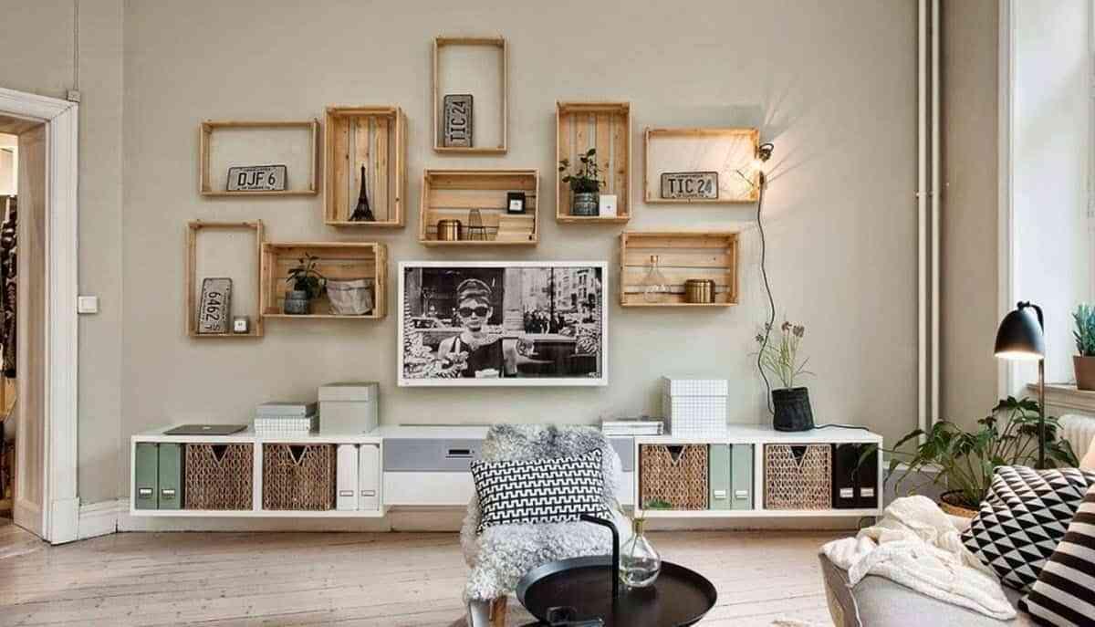 casa al día - cajas de madera