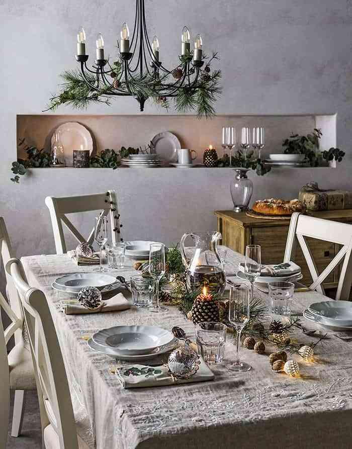 ideas muy especiales para poner la mesa de navidad