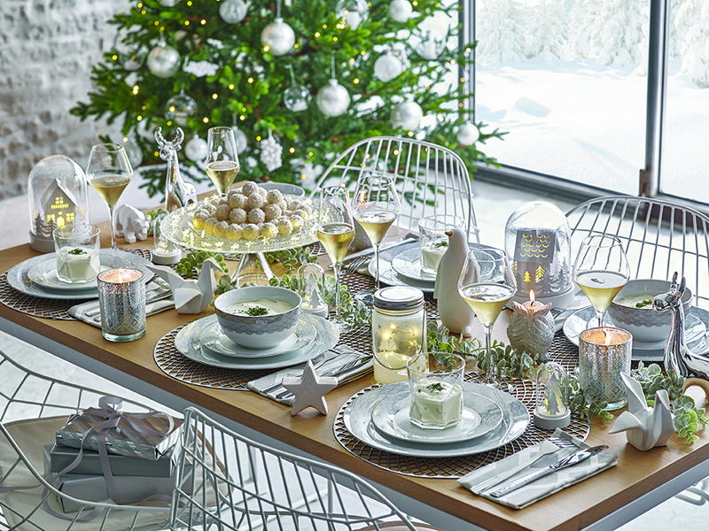 Ideas muy especiales para poner la mesa de navidad - Mesas de centro maison du monde ...