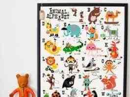 carteles infantiles - Repasar el abecedario