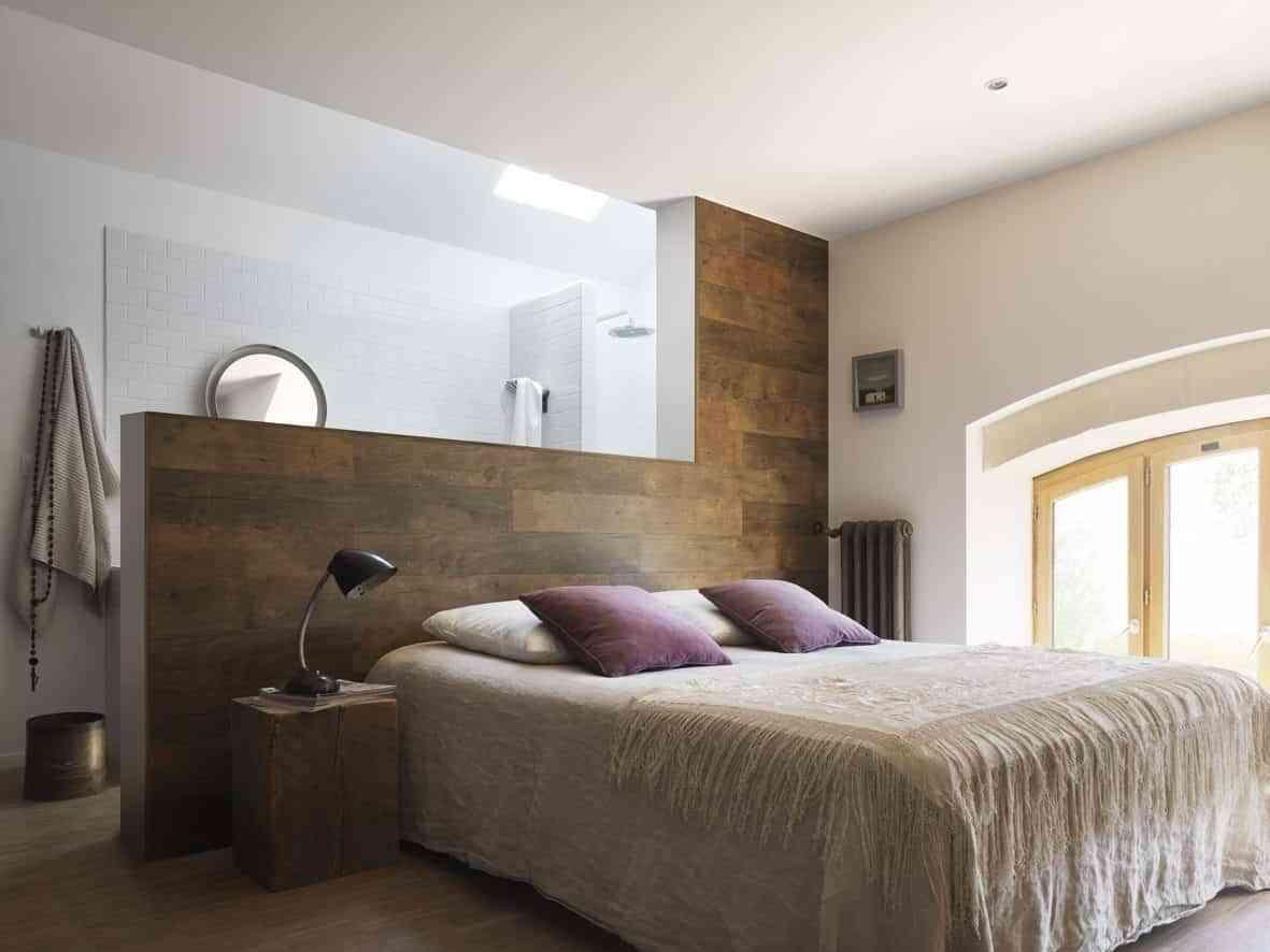 cabeceros caseros con laminado madera