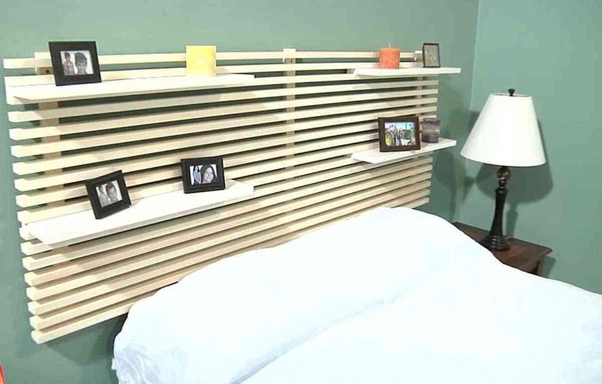 cabeceros caseros con listones madera clara