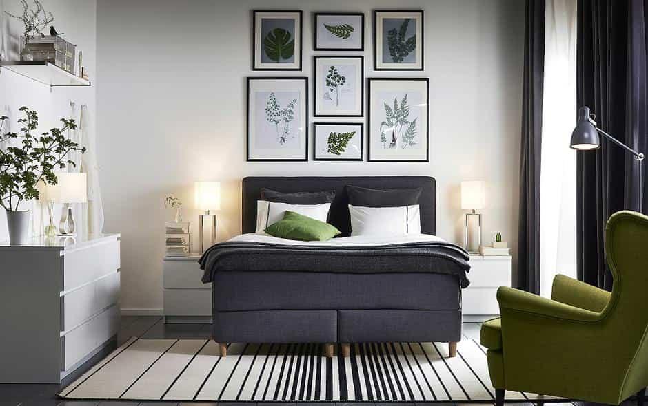 colocar cojines en la cama - dormitorio moderno