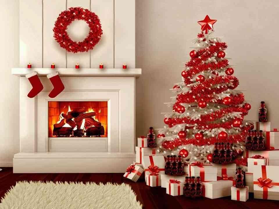 arbol de navidad rojo hoomrun