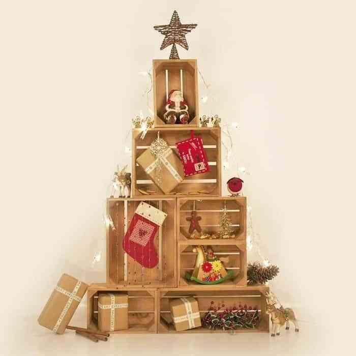 los rboles de navidad ms originales hechos con cajas