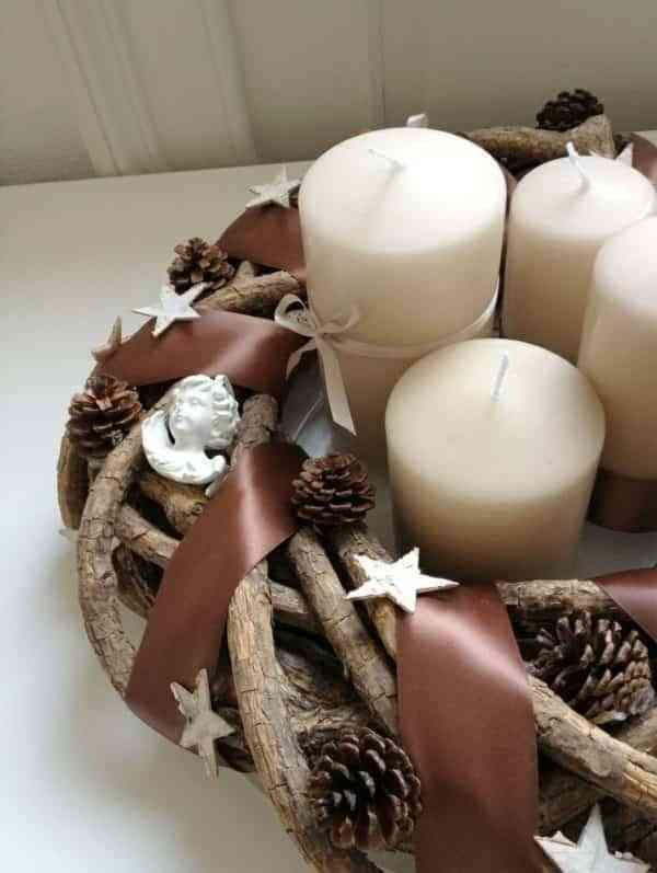 centros navidenos con velas freshdesign
