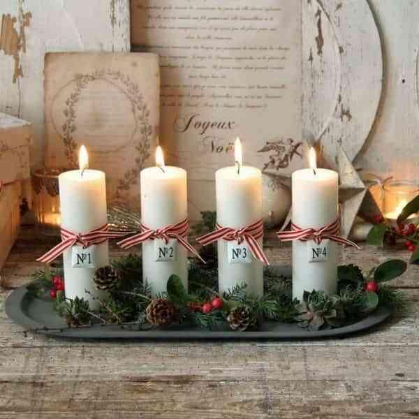 Ideas fant sticas para hacer centros navide os con velas - Centros con velas ...