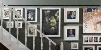 colgar cuadros en paredes de Pladur - Rieles para colgar cuadros
