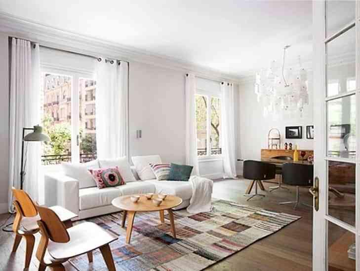 decorar pisos antiguos - textiles
