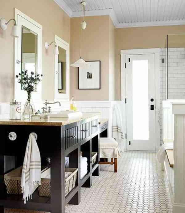 decorar pisos antiguos - baño