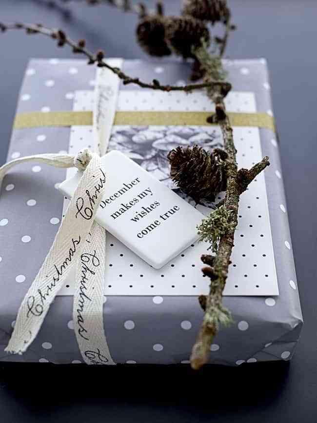 decorar los paquetes de regalo blaubloom