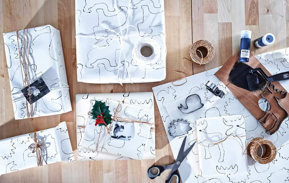 decorar-los-paquetes-de-regalo-ikea-estampado