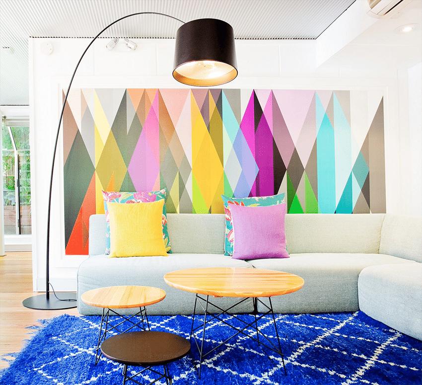 paredes con motivos geometricos freshome