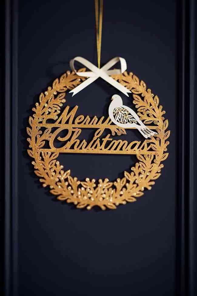 recibidor navideno tch corona dorada