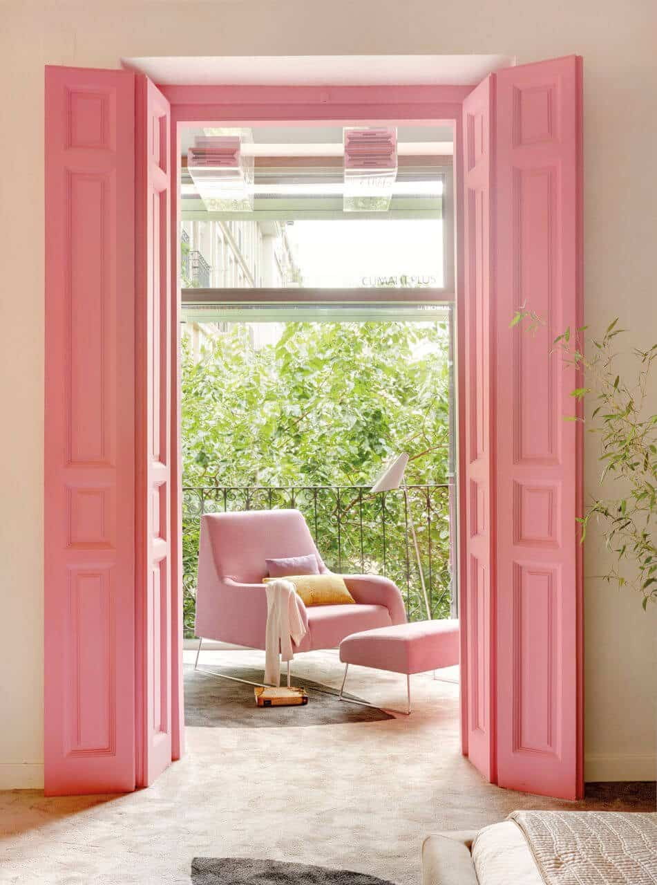 decoración color rosa - ambientes