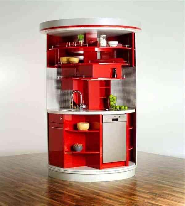 6 modelos de cocinas escondidas en armarios que te van a