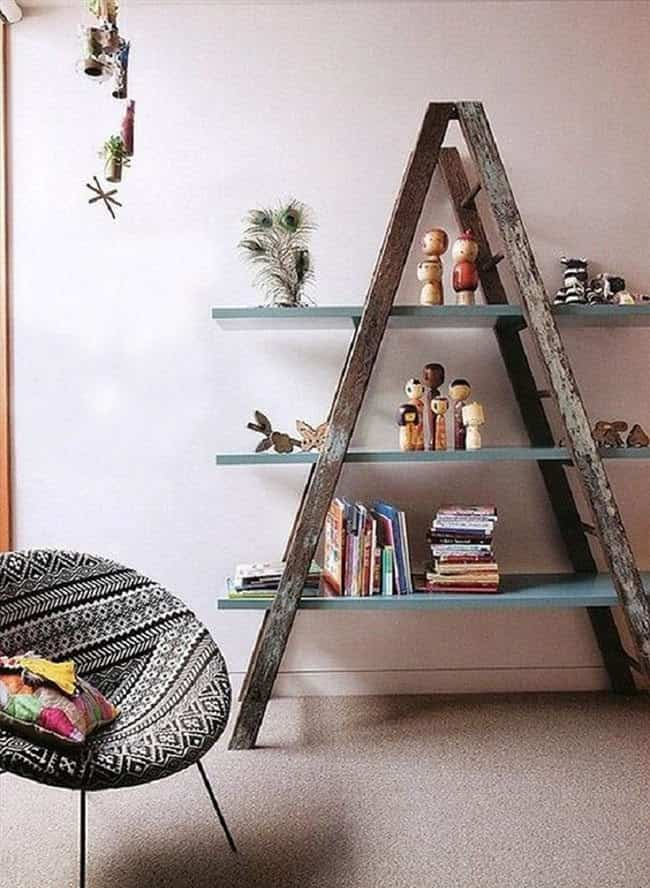 decorar con una escalera top inspired estanteria