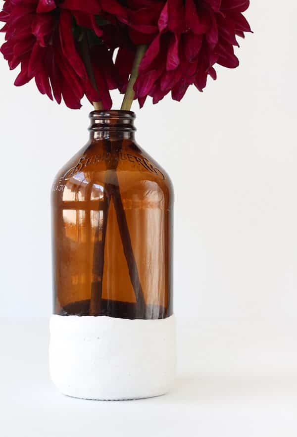 manualidades con escayola florero