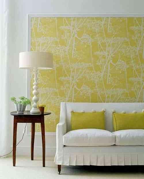 molduras decorativas y papel pintado apartment therapy