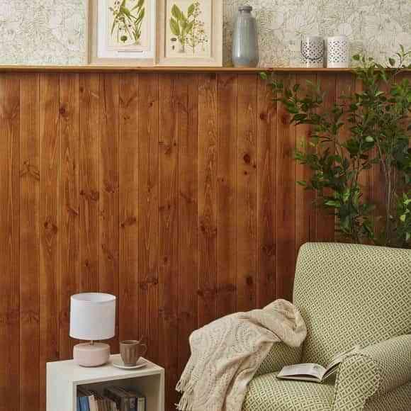 Ideas geniales para decorar las paredes con un friso de madera