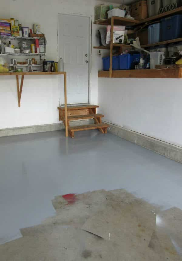 pintar el suelo del garaje proceso clean