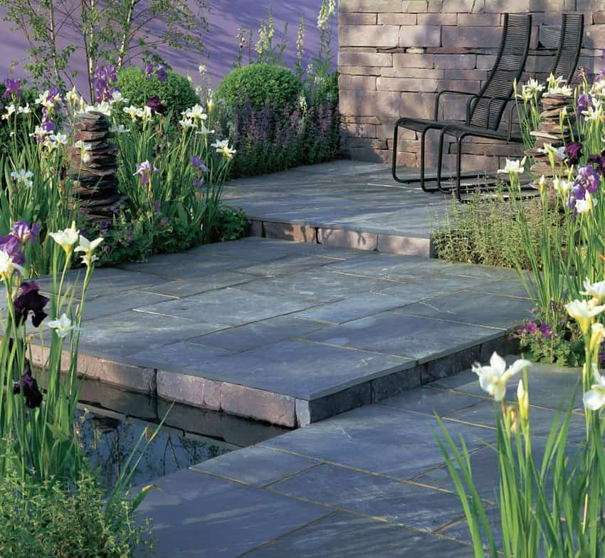 Todas las ventajas de los suelos de pizarra para exterior for Piscinas sobre suelo