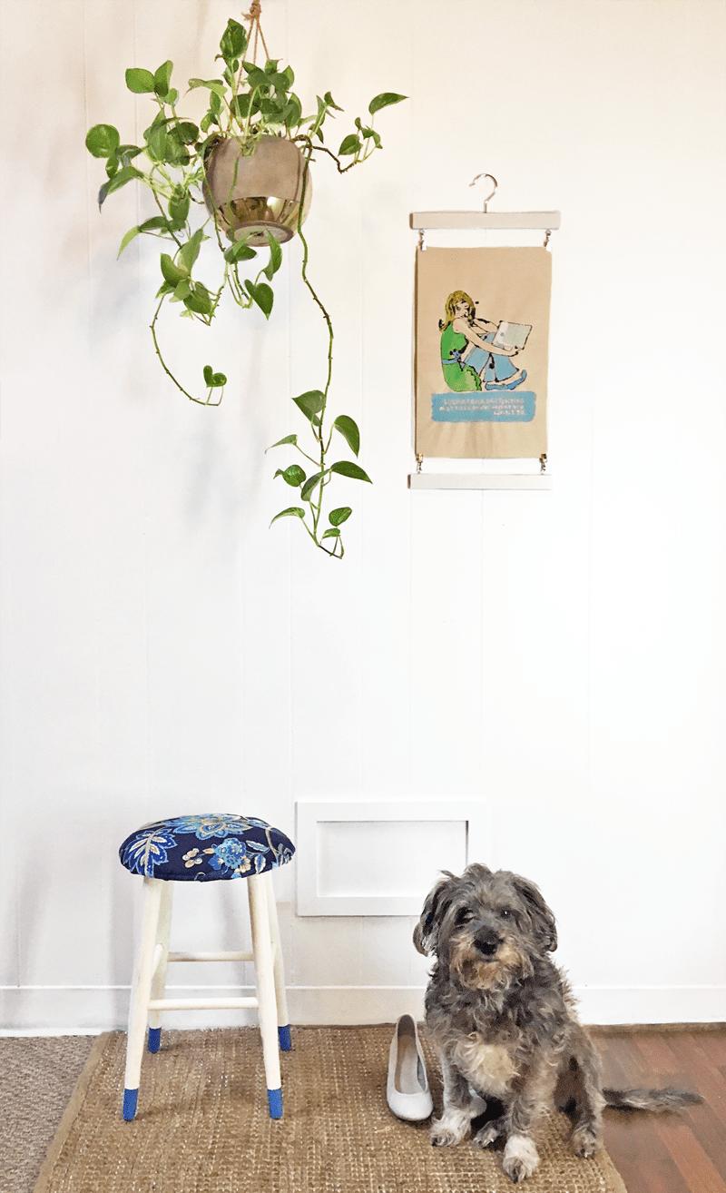 DIY: cómo tapizar un taburete tú mismo para renovarlo