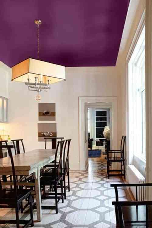Te atreves a pintar los techos de una forma diferente y for Pintar techo cocina