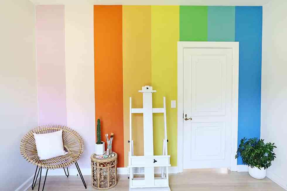 Una pared de colores para alegrar cualquier habitaci n de for Paredes 2 colores