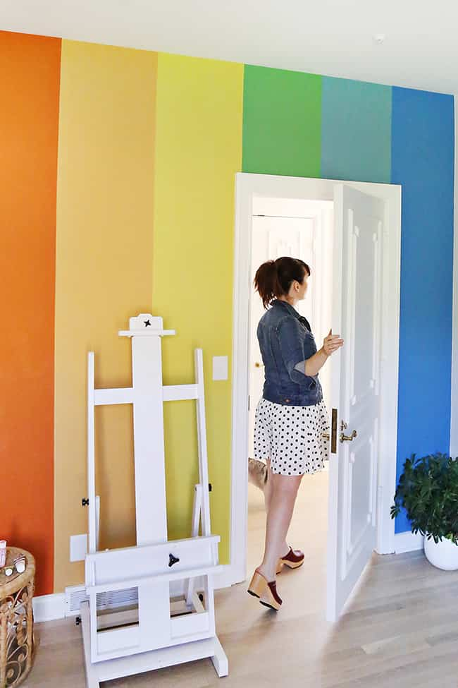 pared de colores a beautiful mess