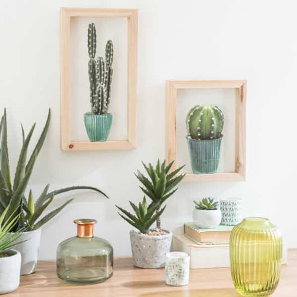 5 formas espectaculares de decorar con cactus que te van a. Black Bedroom Furniture Sets. Home Design Ideas