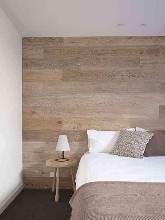 Ideas y materiales diferentes y decorativos para revestir - Revestir pared con madera ...