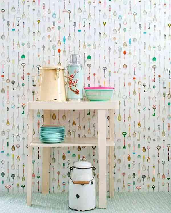 Ideas simp ticas para decorar con papeles pintados cada - Papeles para decorar ...