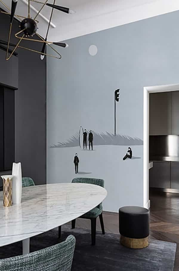 Ideas simp ticas para decorar con papeles pintados cada habitaci n - Maison decor papeles pintados ...