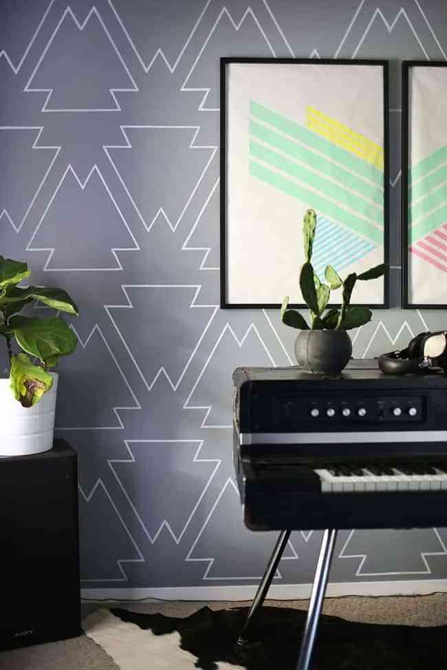 Descubre una idea genial para decorar las paredes con - Paredes con dibujos ...