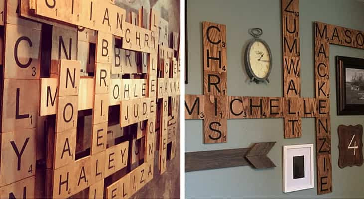 10 sencillas ideas para decorar las paredes de nuestro - Scrabble decoracion ...